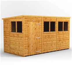 12ft x 6ft Premium Tongue and Groove Pent Shed - Single Door - 6 Windows - 12mm Tongue and Groove Floor and Roof
