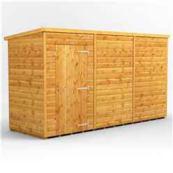 12ft x 4ft Premium Tongue and Groove Pent Shed - Single Door - Windowless - 12mm Tongue and Groove Floor and Roof