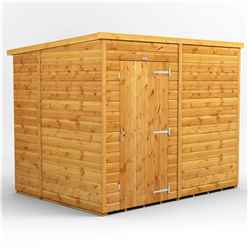 8ft x 6ft Premium Tongue and Groove Pent Shed - Single Door - Windowless - 12mm Tongue and Groove Floor and Roof