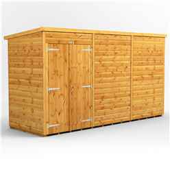 12ft x 4ft Premium Tongue and Groove Pent Shed - Double Doors - Windowless - 12mm Tongue and Groove Floor and Roof