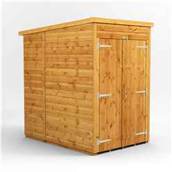 4ft x 6ft  Premium Tongue and Groove Pent Shed - Double Doors - Windowless - 12mm Tongue and Groove Floor and Roof