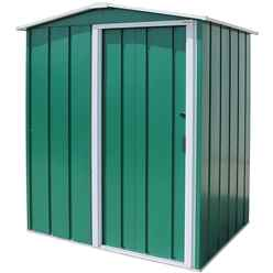 5ft x 4ft Value Apex Metal Shed - Green (1.62m x 1.22m)