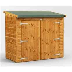 6ft x 2ft  Premium Tongue and Groove Reverse Pent Bike Shed - 12mm Tongue and Groove Floor and Roof