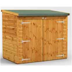 6ft x 4ft  Premium Tongue and Groove Reverse Pent Bike Shed - 12mm Tongue and Groove Floor and Roof