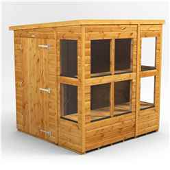 6ft x 6ft Premium Tongue and Groove Pent Potting Shed - Single Door - 10 Windows - 12mm Tongue and Groove Floor and Roof