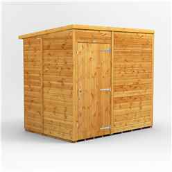 7ft x 5ft Premium Tongue And Groove Pent Shed - Single Door - Windowless - 12mm Tongue And Groove Floor And Roof