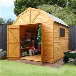 8ft x 8ft Deluxe Tongue & Groove Dutch Barn With Double Doors + 1 Window (12mm T&G Floor & Roof)
