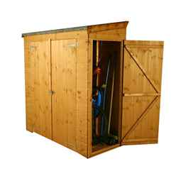 "6ft x 2'6"" Tongue & Groove Pent Shed With Double Doors + Universal Side Door (10mm Solid Osb Floor)"