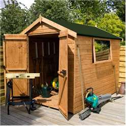 6ft x 6ft Premier Tongue & Groove Apex Shed With Double Doors + 1 Window (12mm T&G Floor & Roof)