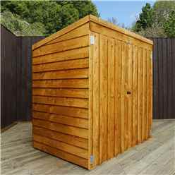 "4ft 8"" x 3ft (1.43m x 0.94m) Super Saver Overlap Pent Mower Shed With Double Doors (10mm Solid OSB Floor)"