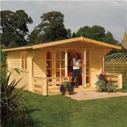 16ft x 15ft Baltic Rowlinson Chalet Log Cabin
