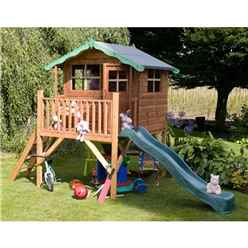Poppy Tower Playhouse & Slide 5ft x 7ft