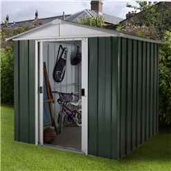 "Yardmaster 6'1""  x 6'10"" GEYZ Apex Metal Shed With FREE Anchor Kit 6'1"" x 6'10"" (1.86m x 2.07m)"