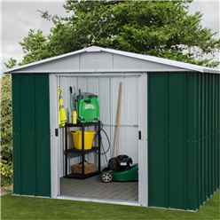 "Yardmaster 7'5"" x 6'10"" GEYZ Apex Metal Shed With FREE Anchor Kit (2.26m x 2.07m)"
