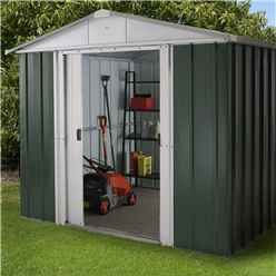 "Yardmaster 7'5""  x 8'9"" GEYZ Apex Metal Shed With FREE Anchor Kit (2.26mx 2.67m)"