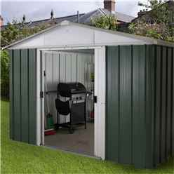 "Yardmaster 9'4""  x 7'5"" GEYZ Apex Metal Shed With FREE Anchor Kit (2.85m x 2.26m)"