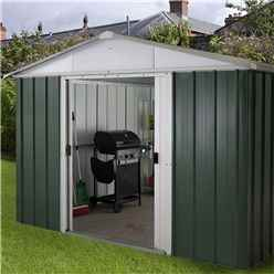 "Yardmaster 9'4""  x 9'4"" GEYZ Apex Metal Shed With FREE Anchor Kit (2.85m x 2.85m)"