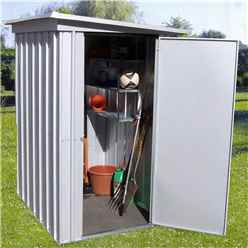 "Yardmaster 3' 5"" x 4' 9"" Pent Metal Shed + FREE ANCHOR KIT (1.04m x 1.44m)"