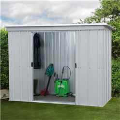 "Yardmaster 7' 5"" x 3' 4"" Pent Metal Shed + FREE ANCHOR KIT (2.24m x 1.04m)"