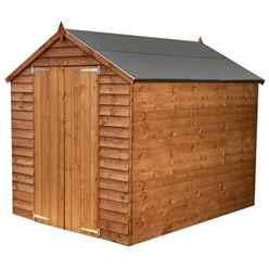**FLASH REDUCTION** 8ft x 6ft Windowless Super Saver Overlap Apex Shed With Double Doors (solid 10mm OSB Floor)