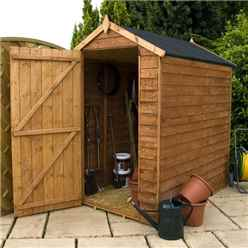 6ft x 4ft (1.78m x 1.31m) Windowless Super Saver Overlap Apex Shed With Single Door (10mm Solid OSB Floor)