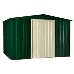 10ft x 10ft Apex Heritage Green Metal Shed (2.95m X 2.99m)