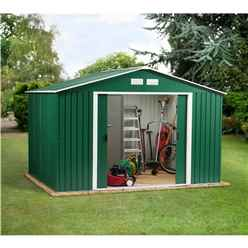 **PRE-ORDER:DUE BACK IN STOCK: END OF NOVEMBER** 10ft x 12ft Value Metal Shed (3.21m x 3.62m)
