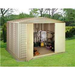 **PRE-ORDER: DUE BACK IN STOCK 9TH JULY** 10ft x 13ft Duramax Plastic PVC Shed With Steel Frame (3.19m x 3.98m)