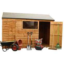 6ft x 10ft Reverse Overlap Apex Shed With Single Door + 1 Window (10mm Solid OSB Floor)