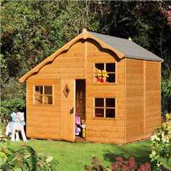 Playaway Rowlinson Swiss Cottage Playhouse 8ft x 7ft (2.50m x 2.06m)