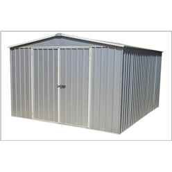 "**PRE-ORDER: DUE BACK IN STOCK 31ST JAN** 9' 10"" x 12' (3m x 3.7m) Premier Regent Zinc Metal Shed (3m x 3.66m)"