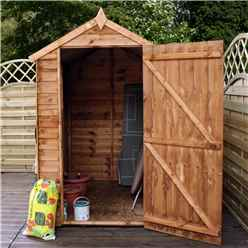 6ft x 4ft (1.83m x 1.29m) Buckingham Overlap Apex Shed With Single Door + 1 Window (10mm Solid OSB Floor)