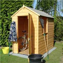 6ft x 4ft (1.83m x 1.19m) - Stowe Tongue & Groove - Apex Garden Shed / Workshop - 1 Window - Single Door - 10mm Solid OSB Floor