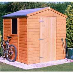 6ft x 6ft (1.79m x 1.79m) - Stowe Tongue & Groove - Apex Garden Shed / Workshop - 1 Opening Window - Single Door - 12mm Tongue and Groove Floor
