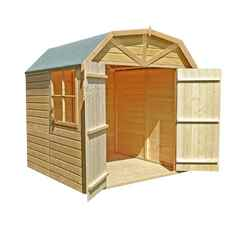 7ft x 7ft Stowe Tongue & Groove Apex Garden Shed / Workshop / Barn (12mm Tongue and Groove Floor)