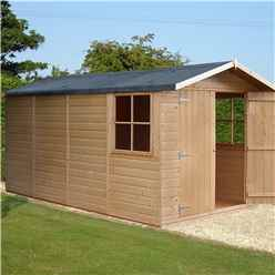 13ft x 7ft (4.05m x 2.05m) - Stowe Tongue & Groove - Apex Shed / Workshop - 3 Opening Windows - Double Doors - 12mm Tongue and Groove Floor