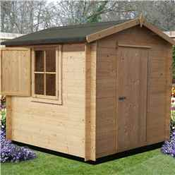 2.09m x 2.09m Stowe Oakland Log Cabin - 19mm Wall Thickness