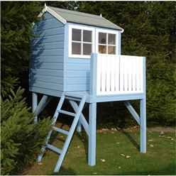 4ft x 6ft (1.19m x 1.82m) - Stowe Tower Playhouse - 12mm Tongue & Groove - 1 Opening Window - Single Door - Reverse Apex Roof