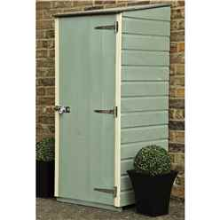 2ft x 2ft  (0.63m x 0.59m - Tongue & Groove - Pent Garden Store - Windowless - Single Door - 11mm Solid OSB Floor