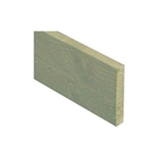 6FT x 6 INCH x 1 INCH (1.83m x 150 x 22mm) Green Pressure Treated Single Gravel Board + Brackets