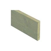 6FT x 6 INCH x 1 INCH (1.83m x 150 x 22mm) Green Pressure Treated Single Gravel Board + Brackets