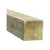 6FT x 3 x 3 INCH (1.8mx75x75mm) Green Pressure Treated Fence Post (Add to pack)