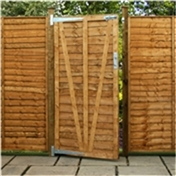 Pressure Treated 3ft (0.915m) Lap Panel Overlap Single Gate 3ft Wide