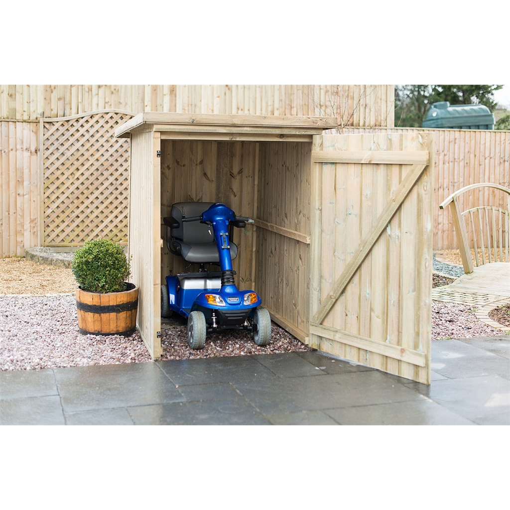 Large Pressure Treated Mobility Scooter Storage Shed - 4 Week Free UK