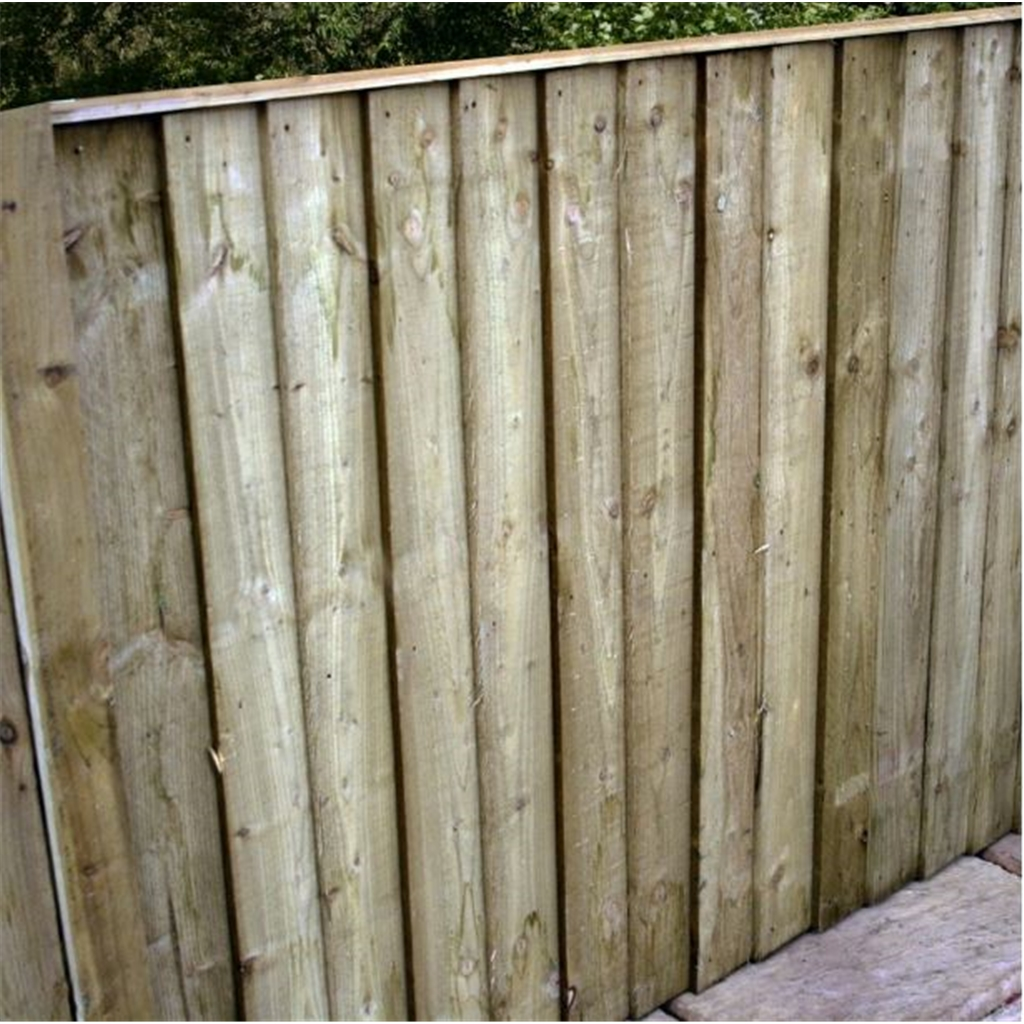 4/' x 6/' Pressure treated  Vertical Feather Edge Fencing