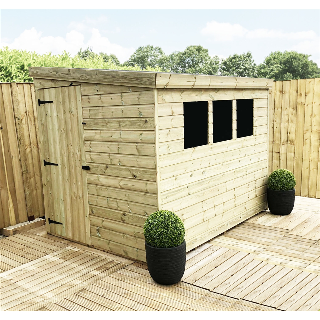 Aston 7ft x 5ft reverse pressure for 12x8 shed with side door