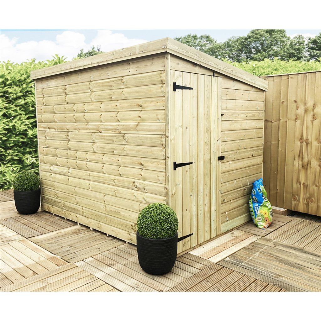 Aston 8ft x 8ft windowless pressure for 12x8 shed with side door