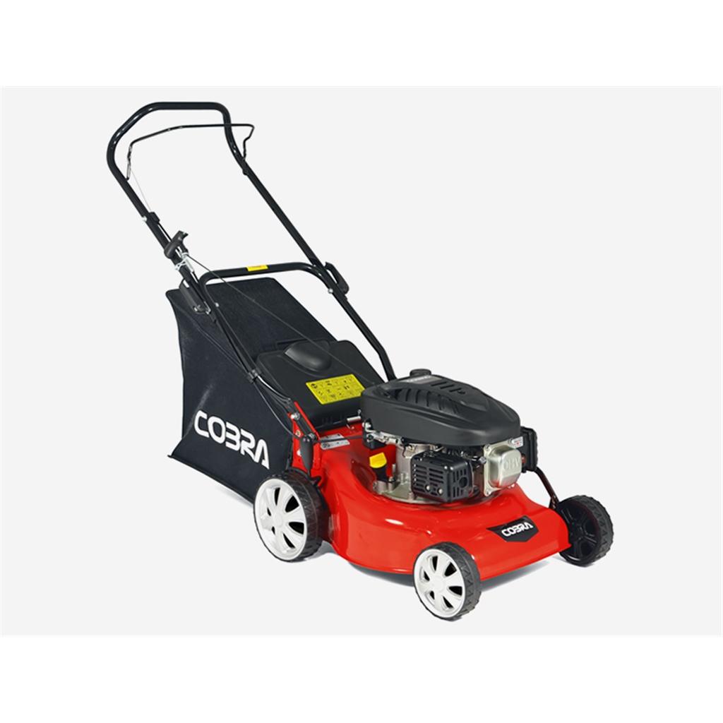 Cobra cobra 40cm petrol push rotary for Small lawnmower shed