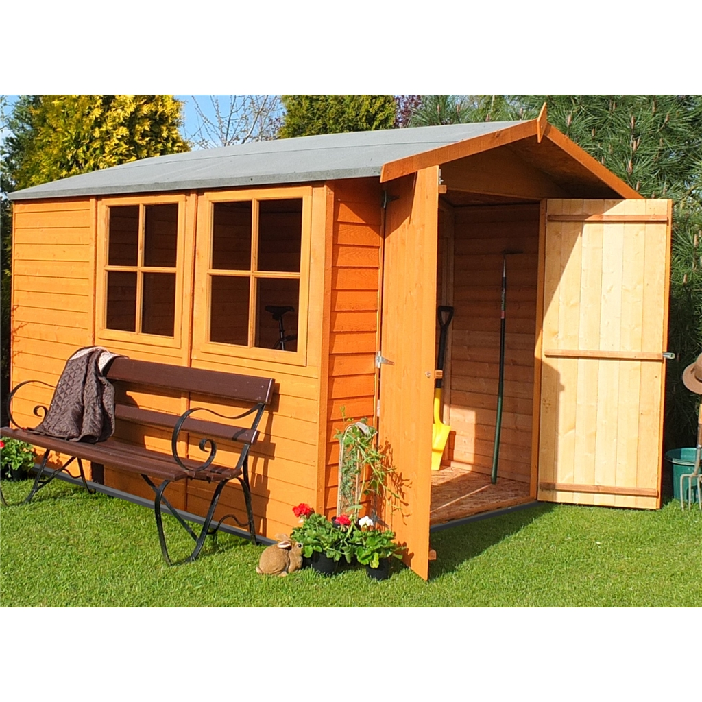 Shedswarehouse Com Stowe 10ft X 7ft Dip Treated