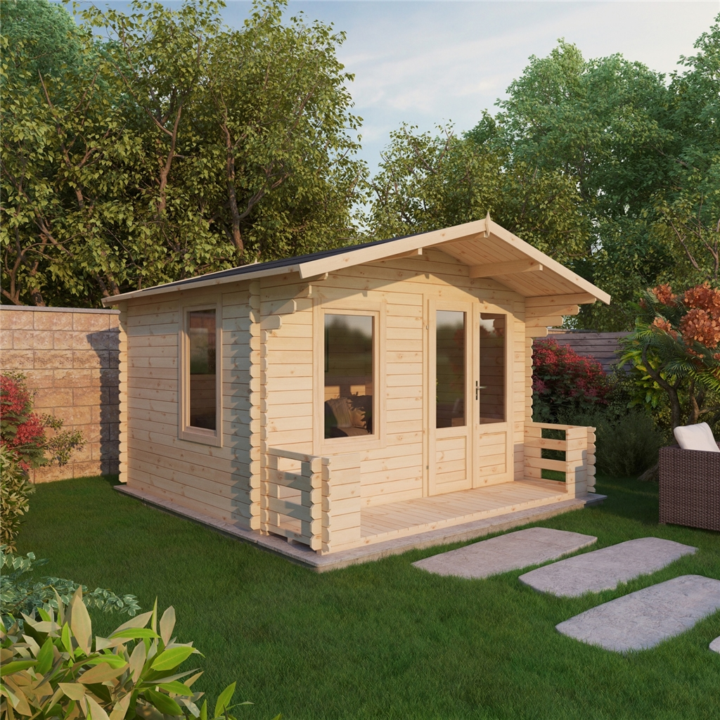 Superb img of ShedsWarehouse.com OXFORD LOG CABINS 3.29m x 3.48m Vicky Log Cabin  with #986933 color and 1024x1024 pixels